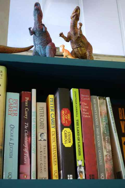 Solbit asked Papa to put her on the shelf
