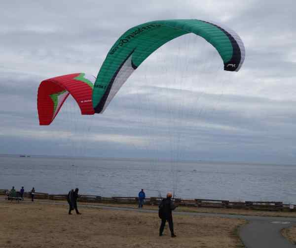 "Now I'm asking myself, ""Am I crazy enough to try this paragliding?"" Answer: No!"
