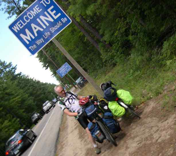 Ta-Da! They made it all the way to the state of Maine on two bikes, and they carried all their things on their bikes in something called panniers. I think those are just bags with a fancy name.