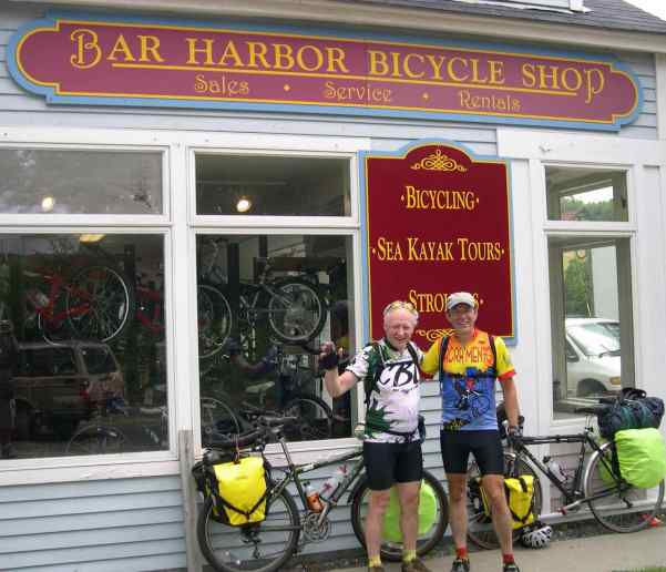 First stop on arriving at their destination was the bicycle shop to have their bikes shipped home. They weren't going to ride all the way back.