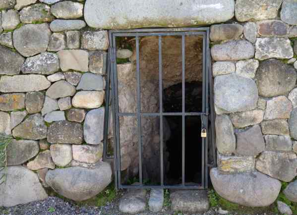 "Whoa! What's this? A jail?"" I asked. Nona said, no, that it was the entrance to the village's underground tombs where they would have placed their dead, and where they could go to visit their dear departed ancestors — any time they wanted."