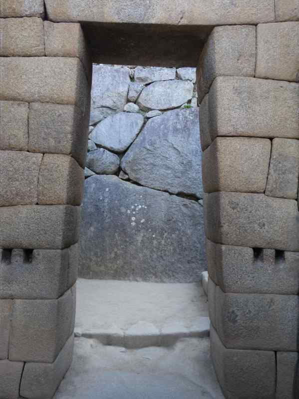 Nona kept taking pictures of the doorways at Machu Picchu. I think she wants to put these into her next apartment -- the shape not the heavy rocks.