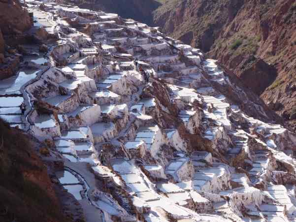 Doesn't it look as though the salt pans (the ponds) are tumbling downhill? What a site!