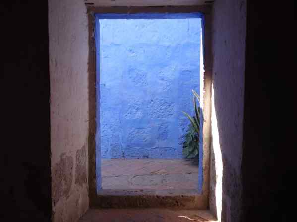The most simple doorway can be pleasing, if you have the right colors and light. Usually, I like my doors simple.